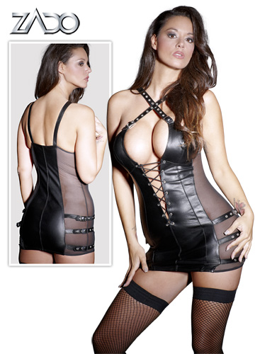 Leather Minidress XL