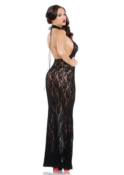 COCO HIGH NECK GOWN BLACK OS