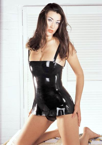 LATEX DRESS BLACK LARGE