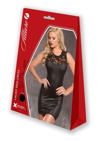 LACED MINI DRESS S/M BLACK