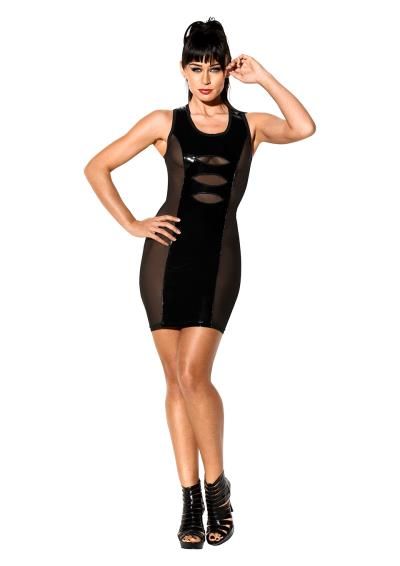 DRESS LACK RACER BACK BLACK L