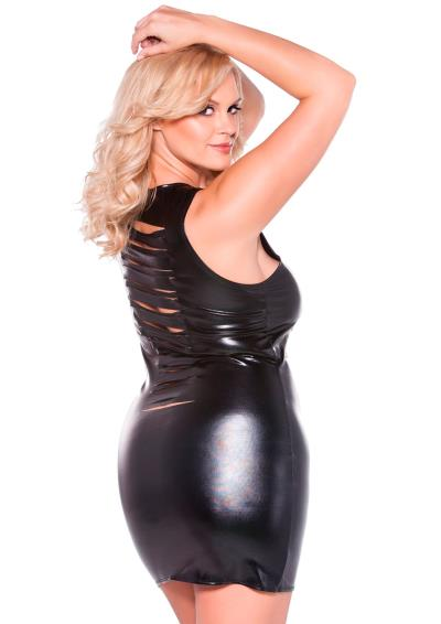 RISQUE KITTEN DRESS BLACK XL/XXL