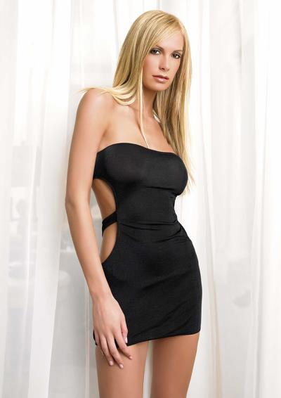 SLINKY TUBE DRESS WITH CUT OUT BACK