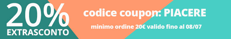 Extrasconto 20% coupon PIACERE!!!